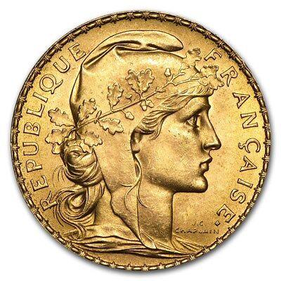 SPECIAL PRICE! France Gold 20 Francs French Rooster AU (Random) - SKU #152604