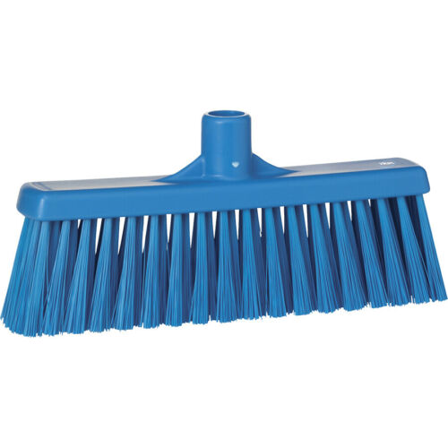 "Remco Vikan 12"" Upright Broom Brush Head- Medium - Blue 31663"