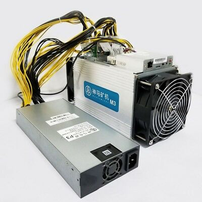 Whatsminer M3 Asic Bitcoin Miner 11 5 12 Th S With Psu   In Stock Same Day Ship