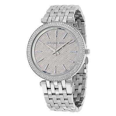 MICHAEL KORS MK3404 Darci Silver Tone Crystal Dial Ladies Wrist Watch