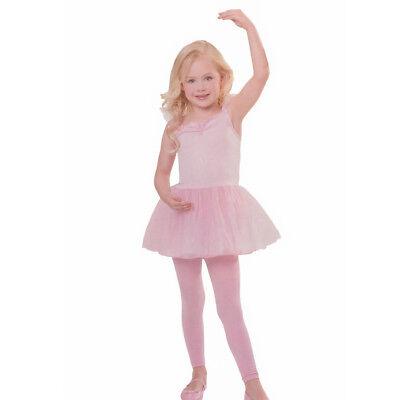 BALLERINA TÜTÜ MÄDCHEN ROSA  Kleid Kinder Ballett Trikot Gr. 122/128/134 # (Mädchen Rosa Tutu Kostüm)