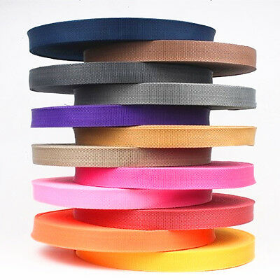 - Colorful 25mm Polypropylene PP Webbing Ribbon Sewing Strap Bag Belt 5/10/20/50YD