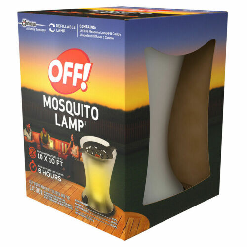 OFF! Mosquito Lamp Includes Lamp, Diffuser & Candle. Refillable Lamp NEW NIB