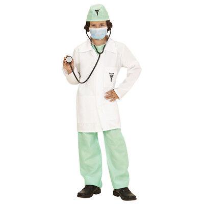 DOKTOR KOSTÜM KINDER Karneval Fasching Arzt Jungen Laborkittel Stetoskop # 0004 ()