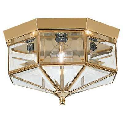 Sea Gull Lighting Four-Light Bound Glass Ceiling in Polished Brass - 7662-02