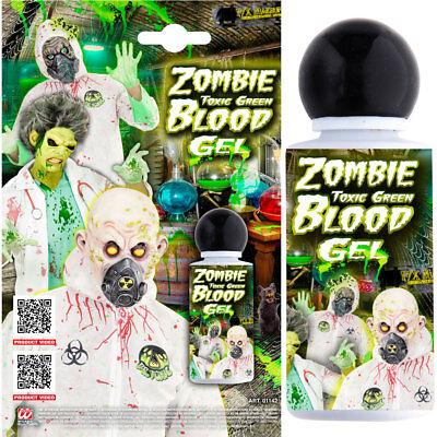 FX ZOMBIE BLUTGEL GRÜN # Alien biohazard Toxisch Gift Blut Schminke Labor Makeup
