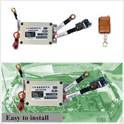 12V Car SUV Battery Disconnect Cut Off Isolator Master Switch w/Wireless Remote