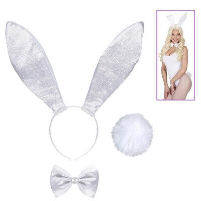 HASEN OHREN HAARREIF FLIEGE SCHWANZ Karneval Ostern Party Tier Kostüm Bunny 8038