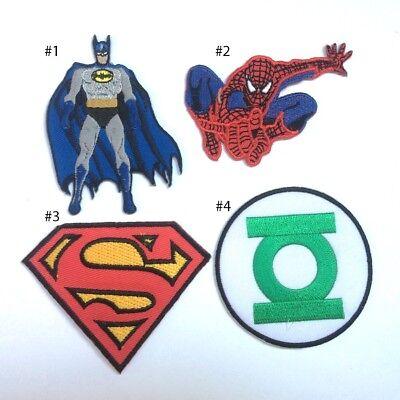 Superhero batman Spiderman Superman Green Lantern Embroidered Iron On Patch - Green Superhero