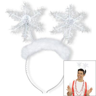 SCHNEEFLOCKEN HAARREIF Weihnachten Winter Eis Antennen Engel Kostüm Party (Kostüm Antenne)