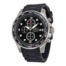 Invicta Signature II Chronograph Black Dial Black Rubber Strap Mens Watch 7371