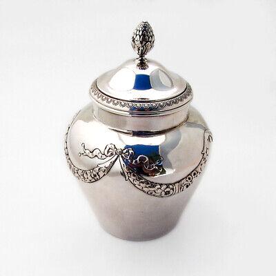 Hanau Empire Tea Caddy Gilt Interior Simon Rosenau 800 Silver