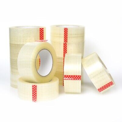 6-12-24-36-72 Rolls - 2 In X 110 Yards 2 Mil Premium Clear Sealing Package Tape