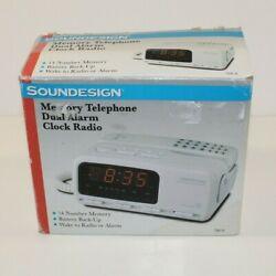 VTG Sound Design Alarm Clock Radio Phone 7541A  - Looks New & Tested
