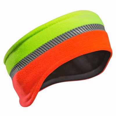 PFANNER Reflex Stirnband orange neongelb Mütze Band Fleece Reflextreifen Kopf