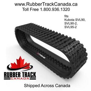 "Kubota SVL90, SVL90-2, SVL95-2 | Aftermarket Skid Steer Rubber Track | Zig Zag Pattern | 18"" Wide | B450x86x58"
