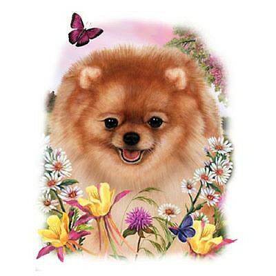 "POMERANIAN DOG with Flowers on One 18""X22"" Fabric Panel to Sew.Picture is 9x11"" comprar usado  Enviando para Brazil"