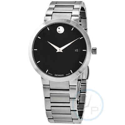 Movado Quartz Black Dial Date Men's Watch 0607355