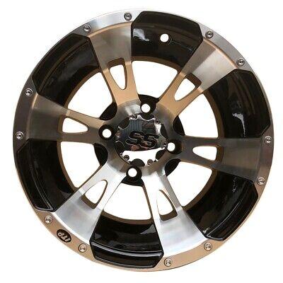 Quad ATV Alu Felge 7x12 12x7 4x110 2+5 ITP SS112 Silber / Schwarz 1228245404B ()