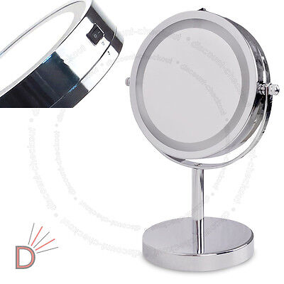 Round Magnifying LED Illuminated Bathroom Make Up M3763 Cosmetic Vanity Mirror