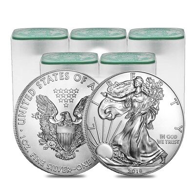 Sale Price - Lot of 100 - 2018 1 oz Silver American Eagle $1 Coin BU (5