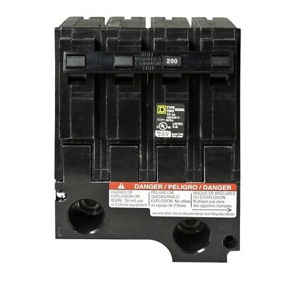 Hom2200bb Hom2200 New Homeline Square D 200 Amp Sub Feed Circuit Breaker Plug On