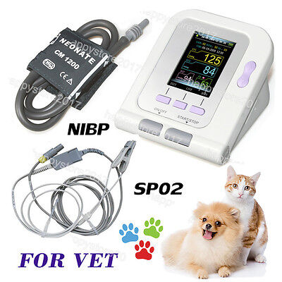 Ce Fda Digital Veterinary Blood Pressure Monitor Contec08a Vet Nibpspo2 Probe