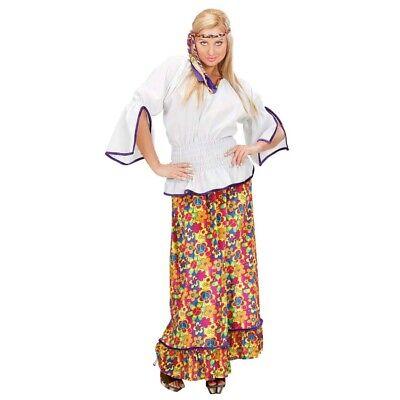 DAMEN HIPPIEKOSTÜM Flower Power 60er 70er Jahre Hippie Schlager Kostüm XL (50 60 Kostüme)