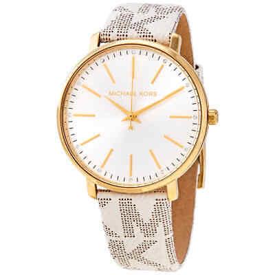 Michael Kors Pyper Quartz Crystal White Dial Ladies Watch MK2858