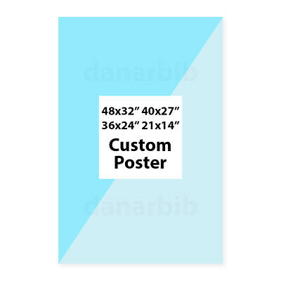 """Custom Poster Personalize Print Your Own Picture 48x32/"""" 40x27/"""" Print Silk Fabric"""