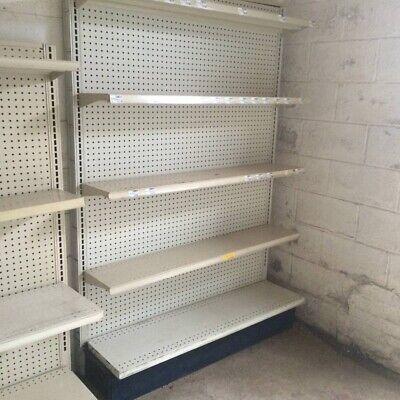 Gondola Shelving Wall Units Metal Shelves Used Store Fixtures Grocery Shelving