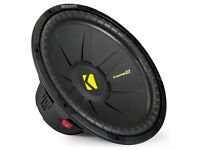 "Kicker 40CWS154 Comp S Series 15"" Single 4-Ohm Sub Car Subwoofer Bass Speaker"