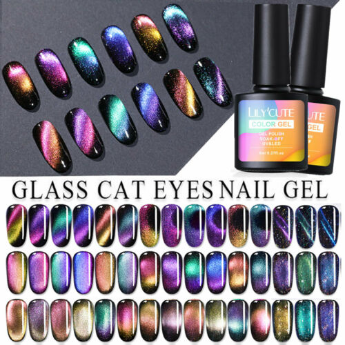 LILYCUTE Holographic Magnetic Cat Eye Soak Off UV Gel Polish