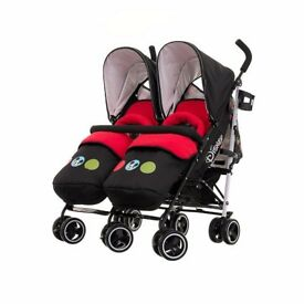 OBaby Disney Circles Twin Stroller Bundle (Mickey)
