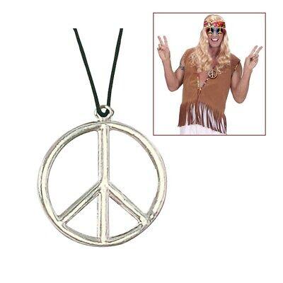 HIPPIE PEACEZEICHEN # Peacekette Peace Kette Zeichen Halskette 70er Schmuck 1690