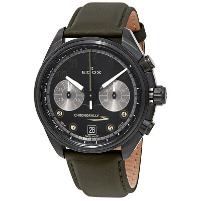 NEW Edox Chronorally Men's Chronograph Watch - 09503 37NNVCV NNV