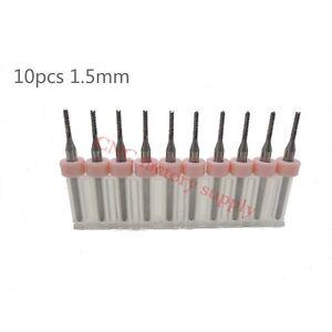 PCB milling cutter 1.5mm 10pcs milling cutter tungsten carbide 3.175mm CNC