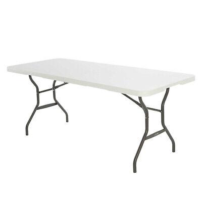 Mesa Rectangular Plegable Blanca 183 cm LIFETIME | Mesa de jardín o...