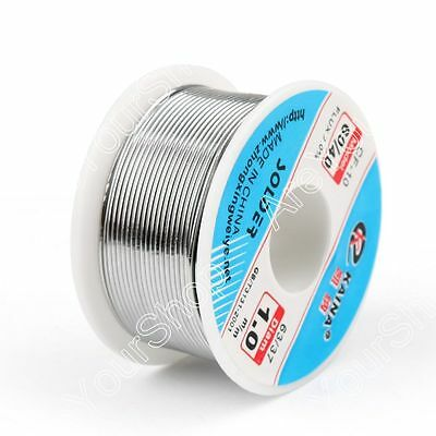 1.0mm 100g 6040 Rosin Core Tin Lead Solder Wire Soldering Welding Flux 2.0