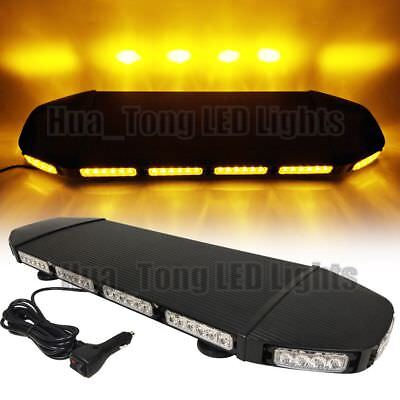 28 216w Led Amber Warn Emergency Wrecker Flash Truck Roof Top Strobe Light Bar