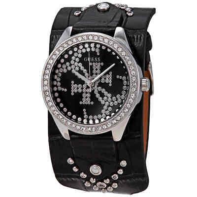 Guess Heartbreaker Crystal Black Dial Ladies Watch -