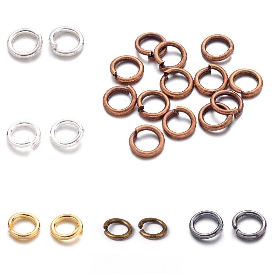 200 g Aluminium Wire Open Jump Rings Mixed Color Finding 8x1mm diamètre intérieur 6 mm