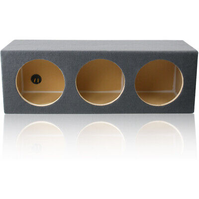 2.00 ft³ SEALED MDF SUBWOOFER ENCLOSURE SPEAKER BOX FOR (3) 10