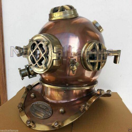 Vintage Copper Morse Diving Helmet Brass Scuba Boston Antique Divers Ship Diver