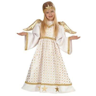 KINDER ENGELSKOSTÜM & FLÜGEL Weihnachten Engel Christkind Kostüm Kleid 104 4921 ()