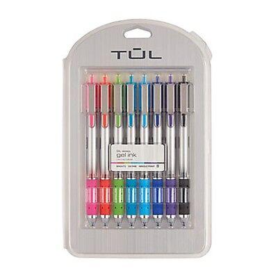 T U L Gl Retractable Gel Ink Rolling Ball Pens Set Of 8 Assorted Colors 05