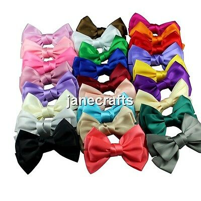"1pcs 4"" Big Boutique Women's Girl's Satin Ribbon Hair Bow Hair Clips Hairpin"