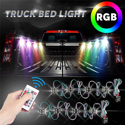 8pc Green CREE 9w LED Rock Light Jeep Off-road Truck Under Body Trail Rig Lamp