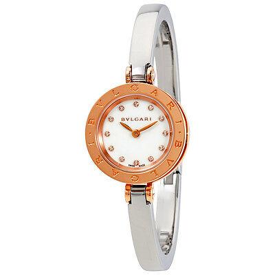 Bvlgari B.zero1 White Dial 18k Pink Gold Quartz Ladies Watch 102320