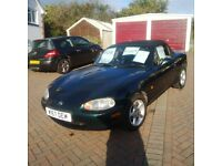 MAZDA MX5 green (soft top roof in excellent condition with no tears or leaks)